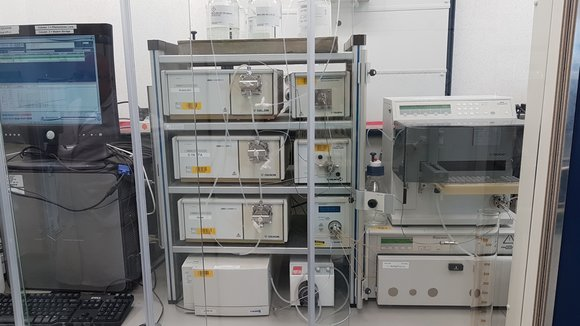 Komplette doppelte präparative HPLC-Anlage